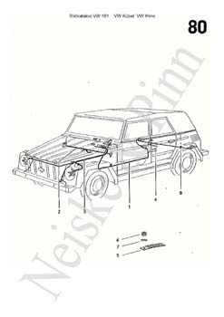 VW 181 Volkswagen  Jeep VW Thing 181 Kübel