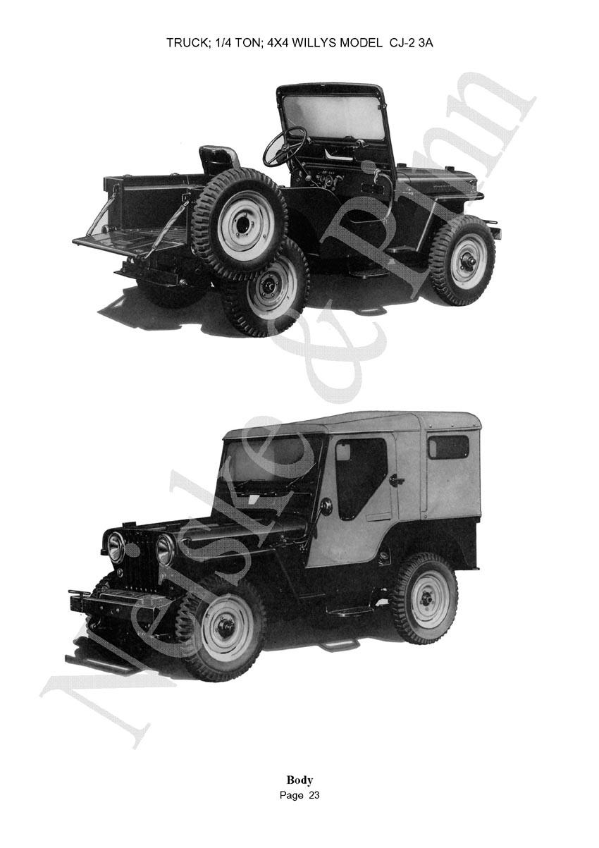 Willys CJ2A Willys CJ3A  Jeep GPW