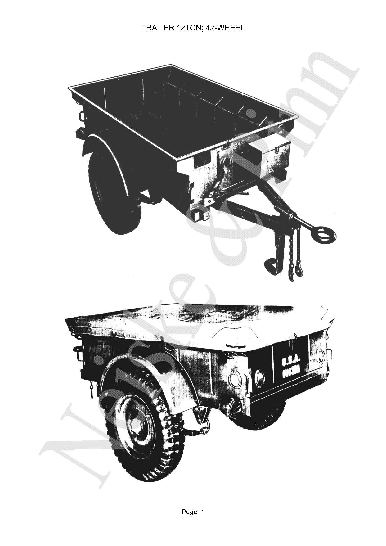 Willys Bantam Trailer Jeep GPW